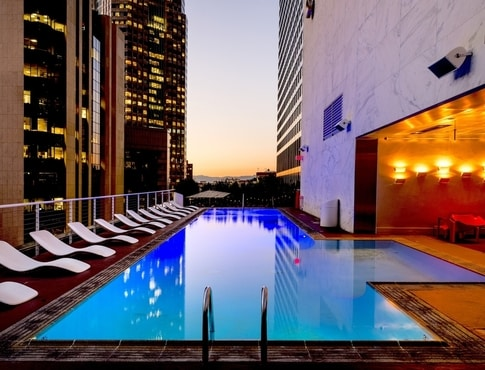 Apartment pool in the city